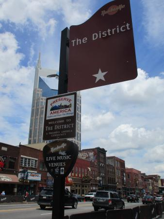 Downtown Nashville: Look for guitar-pick shaped signs that mark live music venues