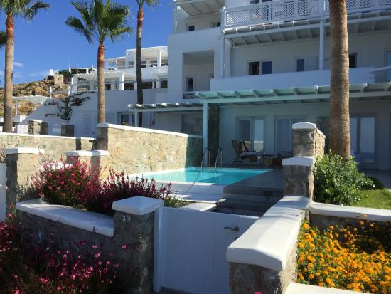 The Rooms With Pools Picture Of Grecotel Mykonos Blu Hotel - Rooms with pools