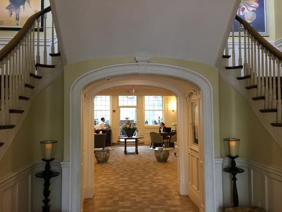 View into the main lobby from the entrance of The Vanderbilt Grace