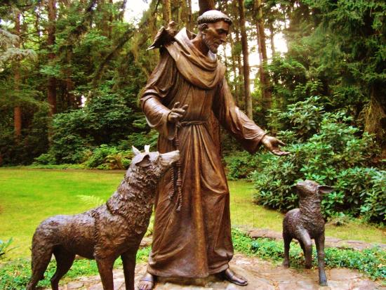 St Francis Statue On Upper Level Picture Of The Grotto National