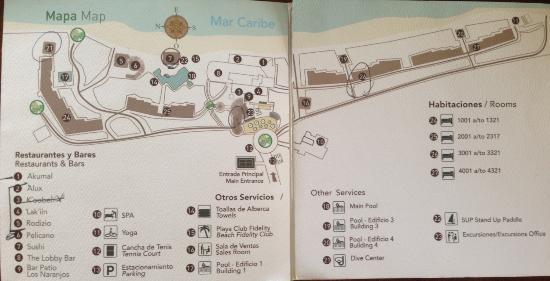 Resort map. We had them cross off the restaurant that req\'d close ...
