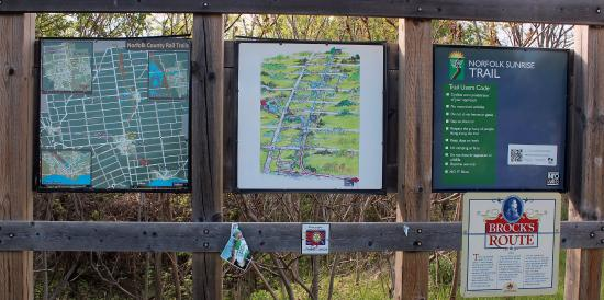 Information plaques in Simcoe
