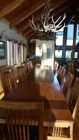 Sargent, NE: The long dining table