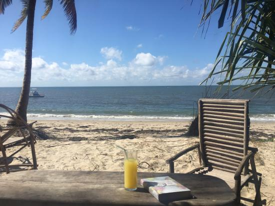 Pangani, Tanzania: The view from the shared beach seats on site