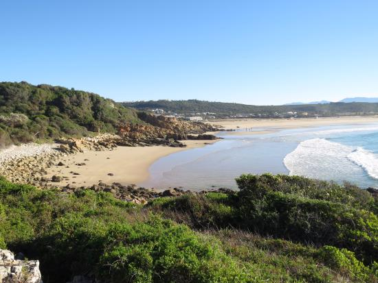 Milkwood Manor on Sea: View from nearby trail along shore