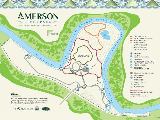 Map Of Trails Picture Of Amerson River Park Macon TripAdvisor - Georgia map macon