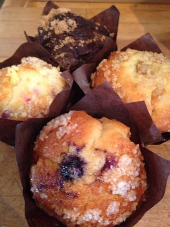 Karens Cafe: Yummmmy pastries Donuts Danish  Biscuits and gravy Burros Bagel or Biscuit breakfast sandwiches