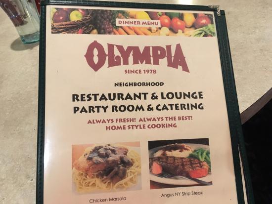 Olympia Restaurant Rochester Ny Menu