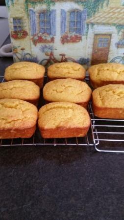 Darlington House Bed and Breakfast: Individual orange cakes fresh from the oven.