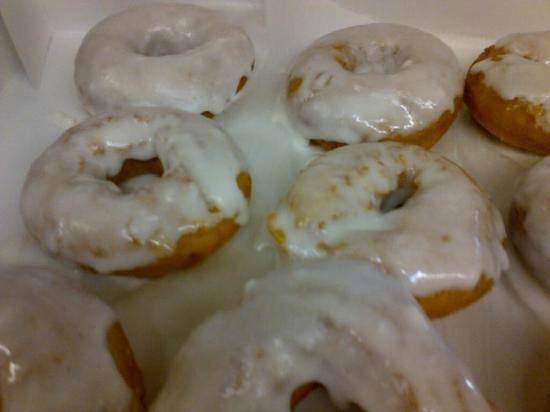 Sunrise Coffee Shop: Our French Vanilla Glazed, hot and delicious! please call ahead for large orders.