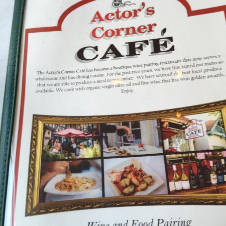 Actor's Corner Cafe: Wonderful epicurirun experience!!!! A MUST STOP FOR THE SOLVANG VISITOR!!!❤️❤️🍷🍷 Grace offered