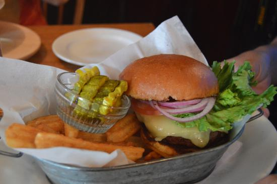Weston, VT: Vermont Grass-Fed Beef Burger with White Cheddar Cheese (Vermont, of course!)