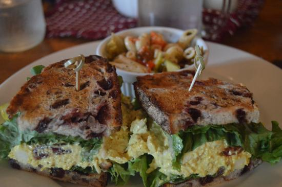 Weston, VT: Fruited Chicken Salad with a side of Pasta Salad