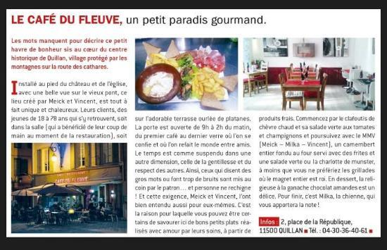 Quillan, Francia: Professional Food Critic Opinion