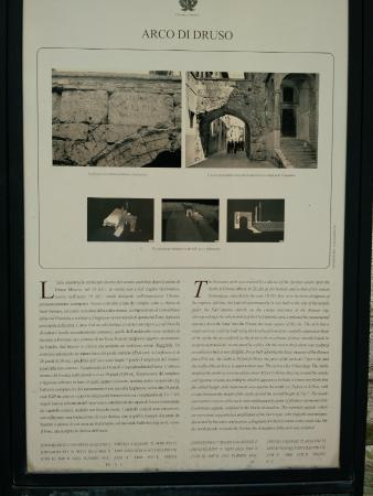 Arco DI Druso : Information board downstairs from the road