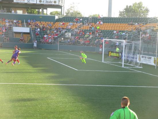Sahlen's Stadium: Sahlen Stadium - shot on goal!