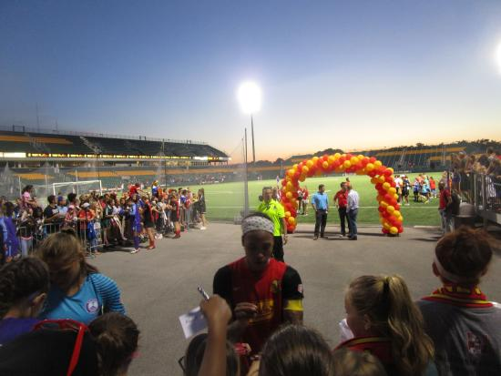 Sahlen's Stadium: Sahlen Stadium - exit area for players from field