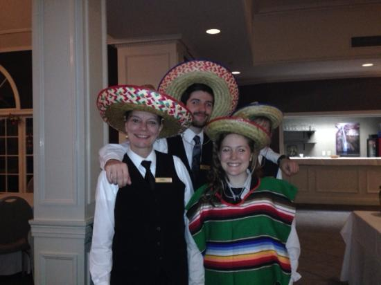 Ethan Allen Hotel: The waitstaff at the end of our evening