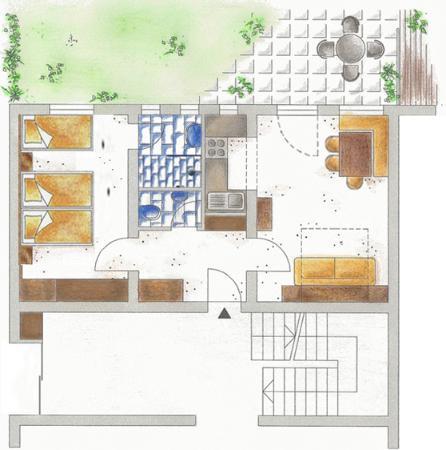Hotel Garni Rundeck: Apart Rundeck - Top 1 - Plan