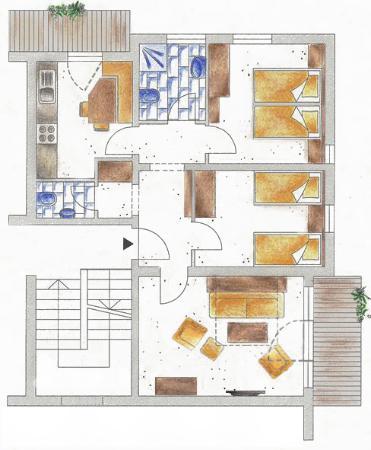 Apart Rundeck - Top 3 - Plan - Picture of Hotel Garni