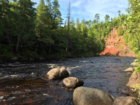 Silver Bay, MN: More Manitou River, downstream from camp site #15.