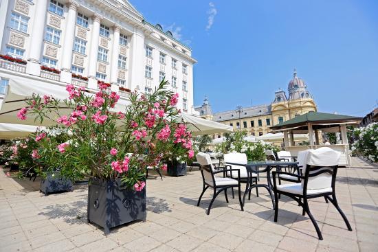 Zinfandel's Restaurant with Oleander terrace at Esplanade Zagreb Hotel
