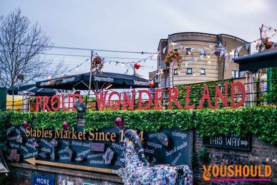 Proud Camden: Proud Wonderland Sign