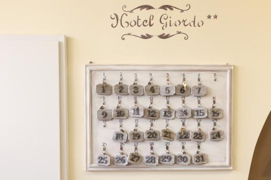 Hotel Giordo : bacheca chiavi