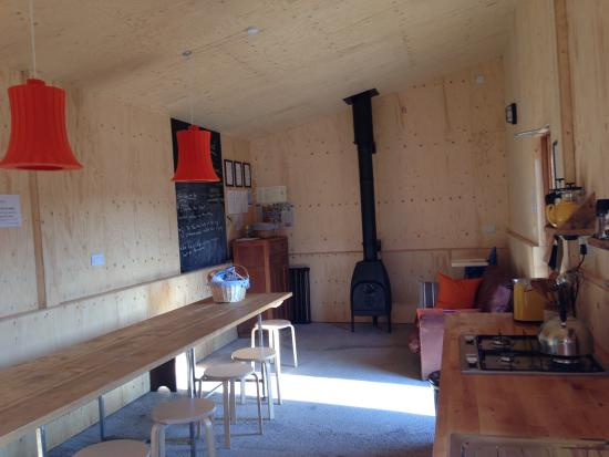 Ciliau Aeron, UK: The converted pig shed kitchen and dining area