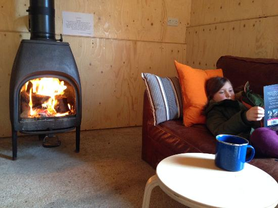 Ciliau Aeron, UK: Relax by the fired in the Pig shed