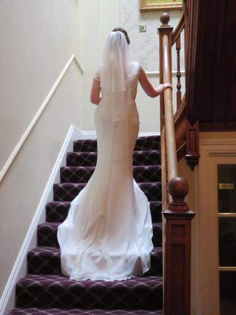 Old Manor Hotel: Our Bride going up the lovely staircase