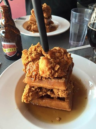 Chicken And Waffles Picture Of Cicero S Restaurant Saint