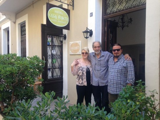 Casa Veneta: i and my mother with Stavros.Thank you for everything.