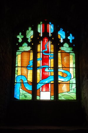 Goodrich, UK: One of the 'new' stained glass windows