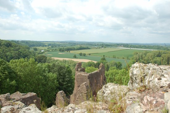 Goodrich, UK: View from the top of the keep