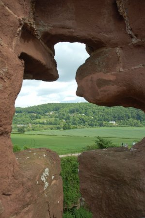 Goodrich, UK: View through the window