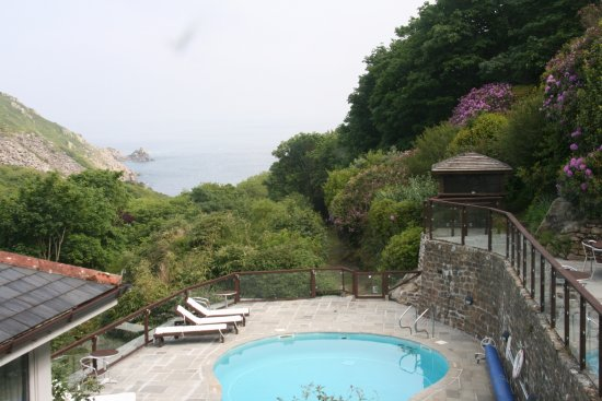 View Over The Swimming Pool Picture Of The Lamorna Cove Hotel Lamorna Tripadvisor