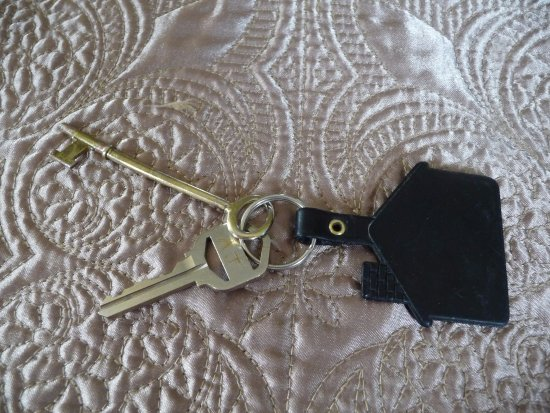 New Market, VA: Key for main entrance and long thin key for private entry - I got it stuck in the lock and it's