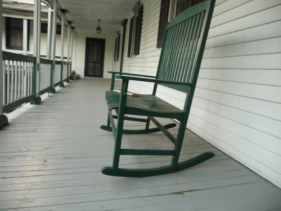 New Market, VA: Porch from private access - too many bees living in the boards for comfortable sitting