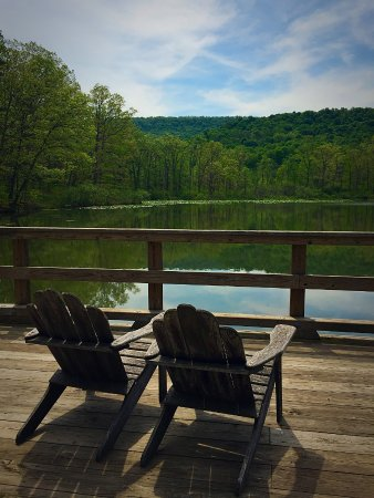 Omni Bedford Springs Resort: A Pair Of Adirondack Chairs At Red Oak Lake