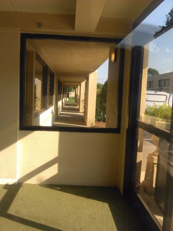 Crowne Plaza Hickory I-40: Secure entry to inside rooms in the back building.