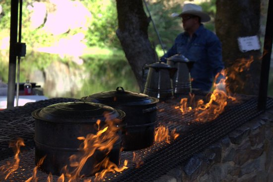 Saturday Night Cookout Dinner under the stars, Roaring Camp Mining Co, Pioneer