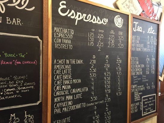 Menu  Picture Of Relax ItS Just Coffee Mansfield  Tripadvisor