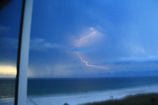 Crystal Sands : Lightning captured from our balcony