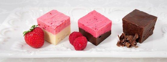 Hawaii Fudge Company: Strawberry Cheesecake, Raspberry Chocolate Dream & Dark Chocolate Fudge