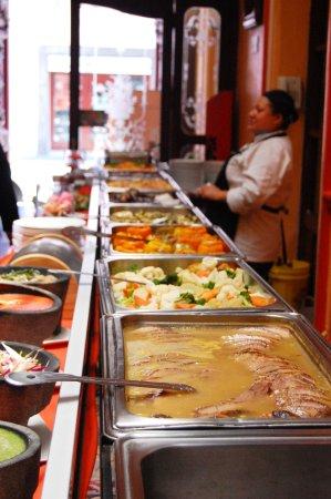 Casona de la China Poblana : Almuerzo buffet en el Restaurante del hotel