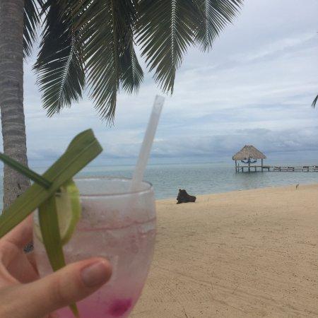 Almond Beach Resort & Spa: The welcome drink, Purple Rain