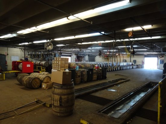 Coxs Creek, KY: Filling the Barrels with Bourbon