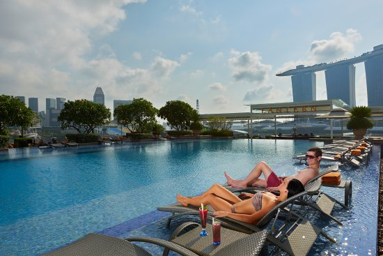 Premier bay view jacuzzi room exterior picture of the - Rooftop swimming pool in singapore ...