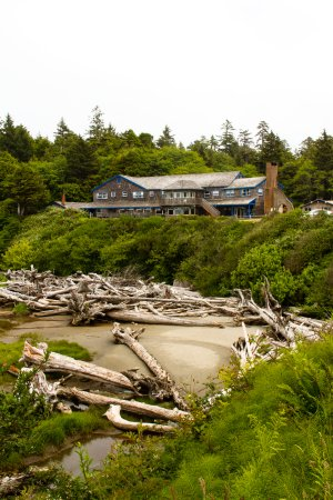 Kalaloch Lodge sitting on the bluff with an ocean view